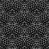 Art deco vector floral pattern in black and white.