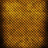 Gold metal texture. Industrial doted background