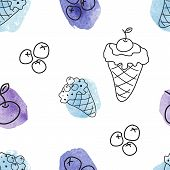 pattern with ice creams