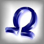 Letter Of The Greek Omega Alphabet