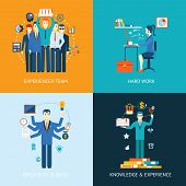 pic of experiments  - Flat design concept icons for teamwork and human resources - JPG