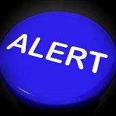 Alert Switch Shows Danger Warning Or Beware