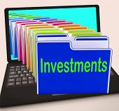 Investments Folders Laptop Show Financing Investor And Returns