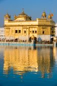 stock photo of granth  - The beautiful Golden Temple in Amritsar Punjab India - JPG