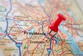 stock photo of northeast  - Closeup of a map of Providence Rhode Island - JPG