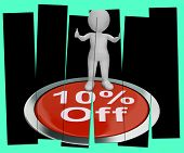 Ten Percent Off Pressed Shows 10  Off Product