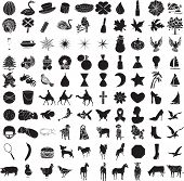 image of parti poodle  - Vector of 100 Icon Set 2 with animals - JPG