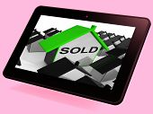 Sold House Tablet Shows Purchase Or Auction Of Home