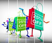 Twenty-five Percent Off Shopping Bags Show 25 Discounts
