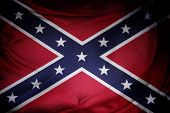 Closeup of silky Confederate flag