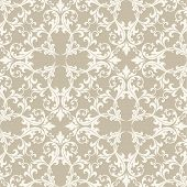 Taupe Damask Fabric