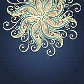 Vector Hand Drawn Texture with Beautiful Mandala