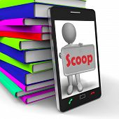 Scoop Phone Means Exclusive Information Or Inside Story