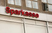 The Logo Of The German Bank Sparkasse