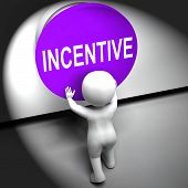 Incentive Pressed Means Bonus Reward And Motivation