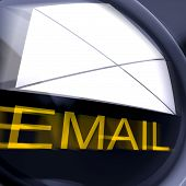 Email Postage Shows Sending And Receiving Web Messages