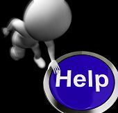 Help Pressed Means Aid Assistance Or Service
