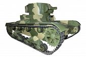 stock photo of flamethrower  - old camouflage flamethrower tank for your design - JPG