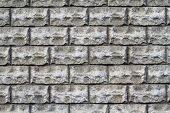 Hewn Gray Brick Wall