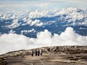 Hikers Walking at the Top of Mt Kinabalu, Malaysia
