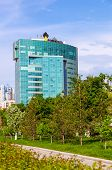 Samara, Russia - May 17, 2014: Office Building Of Russian Oil Company Rosneft In Summertime. Rosneft
