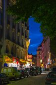 Montmartre By Night - Shopping Street Near Sacre Coeur