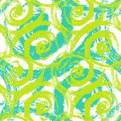 picture of waving hands  - Vector seamless hand painted pattern with bold brush strokes waving and swirling in bright lime green - JPG