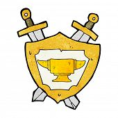 cartoon blacksmith anvil heraldry symbol