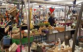 LONDON, UK - MAY 15, 2014: Antique display Greenwich market. Famous place to buy an art, crafts, ant