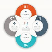 Modern four infographic vector options business template icons