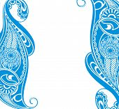 Water blue paisley