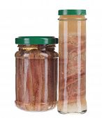 two jars of anchovy fillets