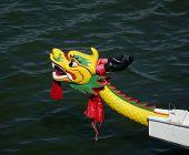 Traditional Dragon Boat Decoration In Taiwan