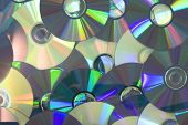 Piled of DVD disc