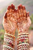 Henna Hands And Bangles - Indian Wedding