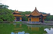 Chinese Garden, Pond And Pavilions