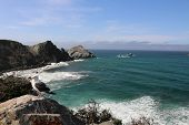 foto of pch  - Scenery along the Pacific Coast Highway in southern California - JPG