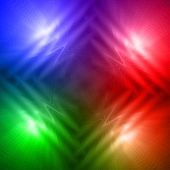 Abstract Motley Rainbow Background With Four Shining Lines And Waves