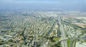 foto of united states marine corps  - Aerial view of Midway District neighborhood and San Diego International Airport  - JPG