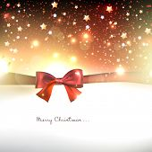 Greeting card with red bows and copy space. Vector illustration