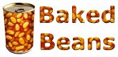 Baked Beans Can And Words