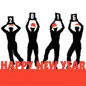 Happy New 2015 Year Vector Illustartion