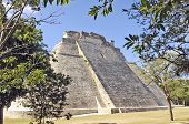 Maya pyramid of the Magician