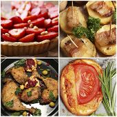Delicious homemade food collage