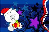 polar bear baby cartoon xmas background2