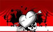 heraldic heart arrows crest background5