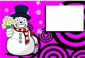 snow man cartoon xmas background00