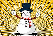 snow man cartoon xmas background7