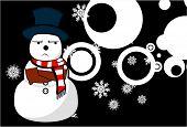 snow man cartoon xmas background2