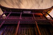 Old Chinese Building at night